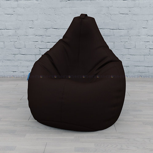 """Кресло-мешок Груша экокожа """"Шоколад"""""""