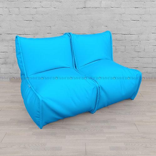 """Модульный диван-трансформер """"DIVAN"""" Оксфорд """"Голубой"""""""