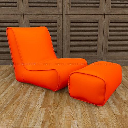 """Авторское кресло """"Tapchan"""" оксфорд """"Оранжевый"""""""