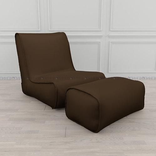 """Авторское кресло """"Tapchan"""" оксфорд """"Шоколад"""""""
