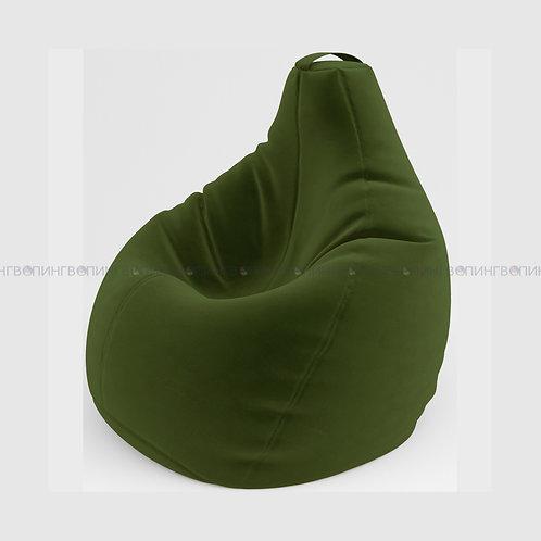 """Кресло-мешок Груша микровелюр """"Велюр зелёный"""""""
