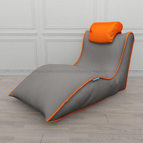 """Авторское кресло """"Balid"""" оксфорд """"Серый-оранжевый"""""""