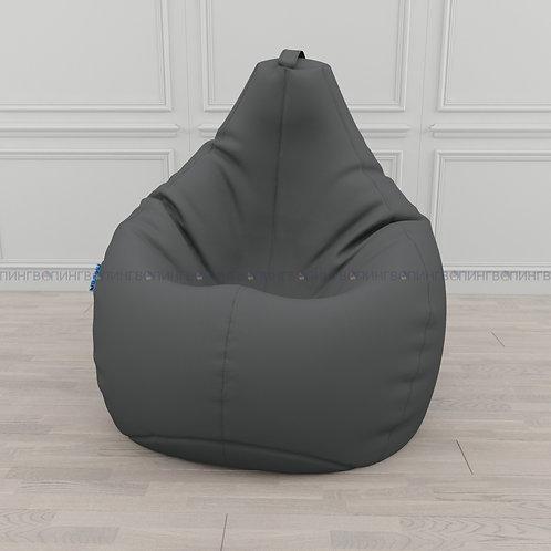 """Кресло-мешок Груша экокожа """"Серый"""""""
