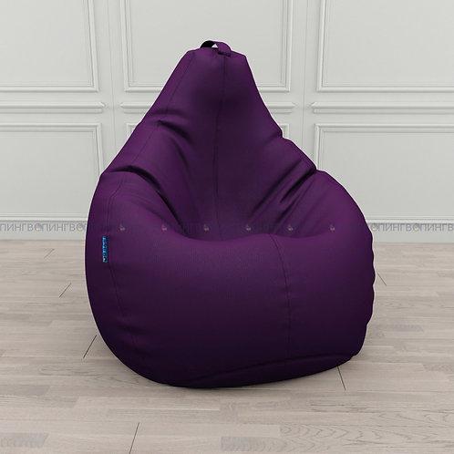 """Кресло-мешок Груша экокожа """"Фиолетовый"""""""