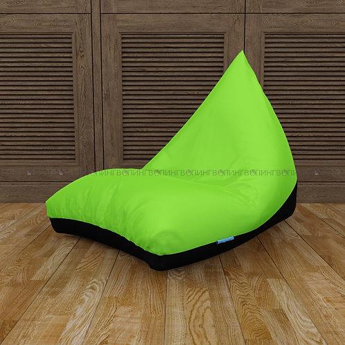 """Кресло-мешок Пирамида оксфорд """"Чёрный-салатовый"""""""