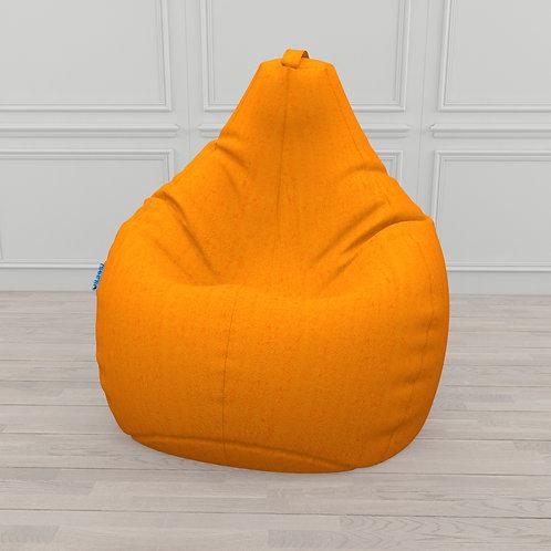 """Кресло-мешок Груша микровелюр """"Оранжевый"""""""