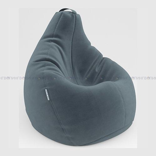 """Кресло-мешок Груша микровелюр """"Велюр серый"""""""