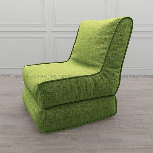 """Авторское кресло """"Le-Jack"""" льняная рогожка """"Зелёный"""""""