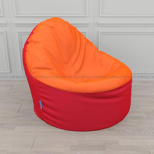 """Кресло-мешок Фирменное Тупокайф оксфорд """"Красно-оранжевый"""""""