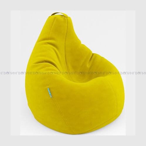 """Кресло-мешок Груша микровелюр """"Велюр жёлтый"""""""