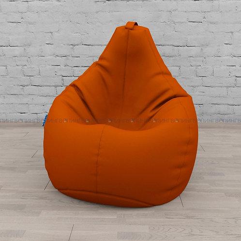 """Кресло-мешок Груша экокожа """"Оранжевый"""""""