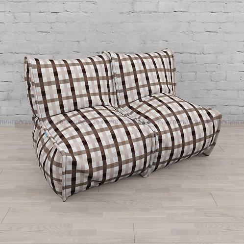"""Модульный диван-трансформер """"DIVAN"""" Микровелюр """"Клетка коричневая"""""""