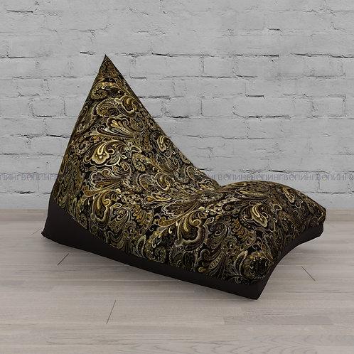 """Кресло-мешок Пирамида жаккард+экокожа """"Шоколадная классика"""""""