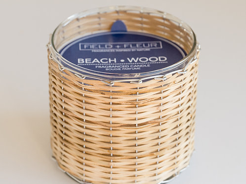 Beach Wood Handwoven 2 Wick Candle