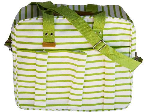 Beach Bag Green Stripes