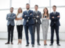 group of business people standing togeth