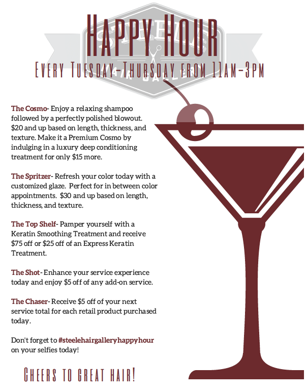 Join Us Every Tuesday-Thursday For Happy Hour!