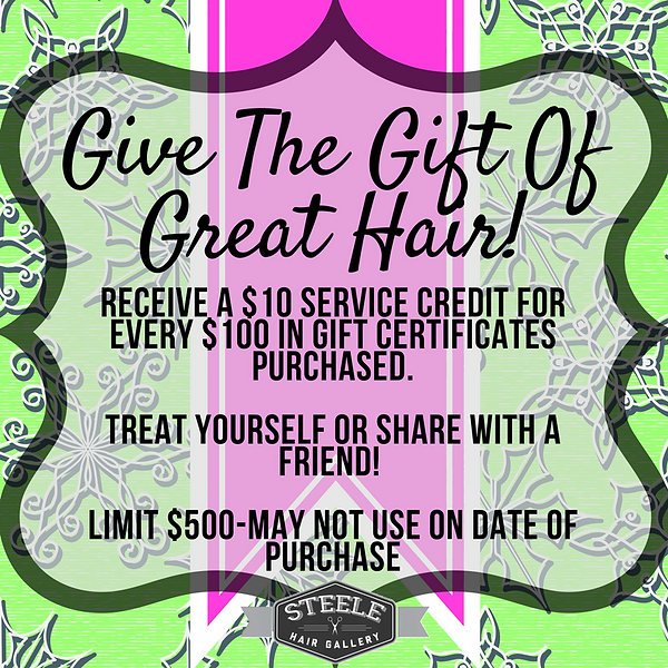 give the gift of great hair