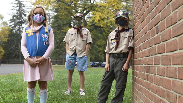 Scouts Help Greenwich Agency Provide Halloween for its Clients