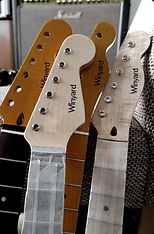 Custom guitar headstock
