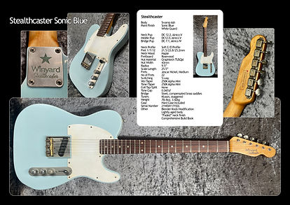 Winyard Stealthcaster Sonic Blue