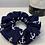 Thumbnail: Navy blue anchor scrunchie