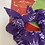 Thumbnail: Purple 'H' scrunchie with bow