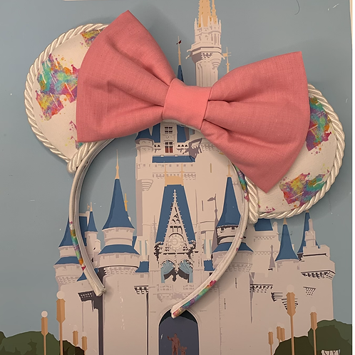 'Dreaming of the magic' Ears (pink & white)