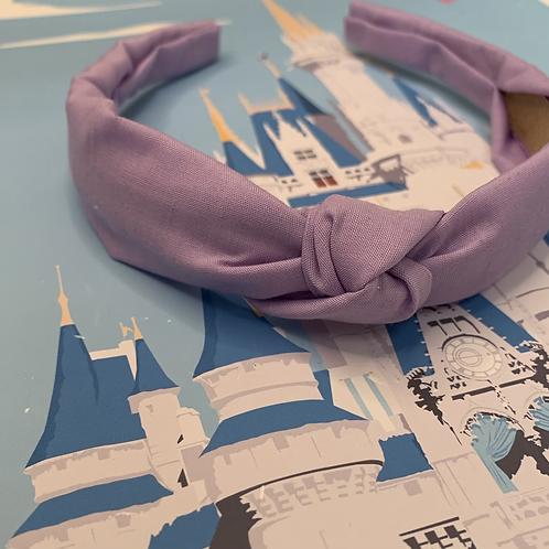 Lilac knotted headband