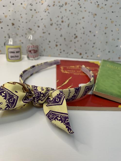 Chocolate Frog headband with bow