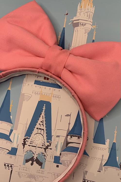 Dusty pink bow on a headband