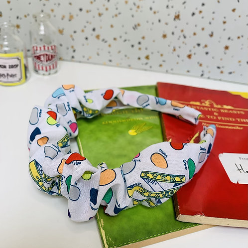 Flavoured beans scrunched headband