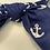 Thumbnail: Navy blue anchor headband with bow