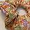 Thumbnail: Orange floral scrunchie