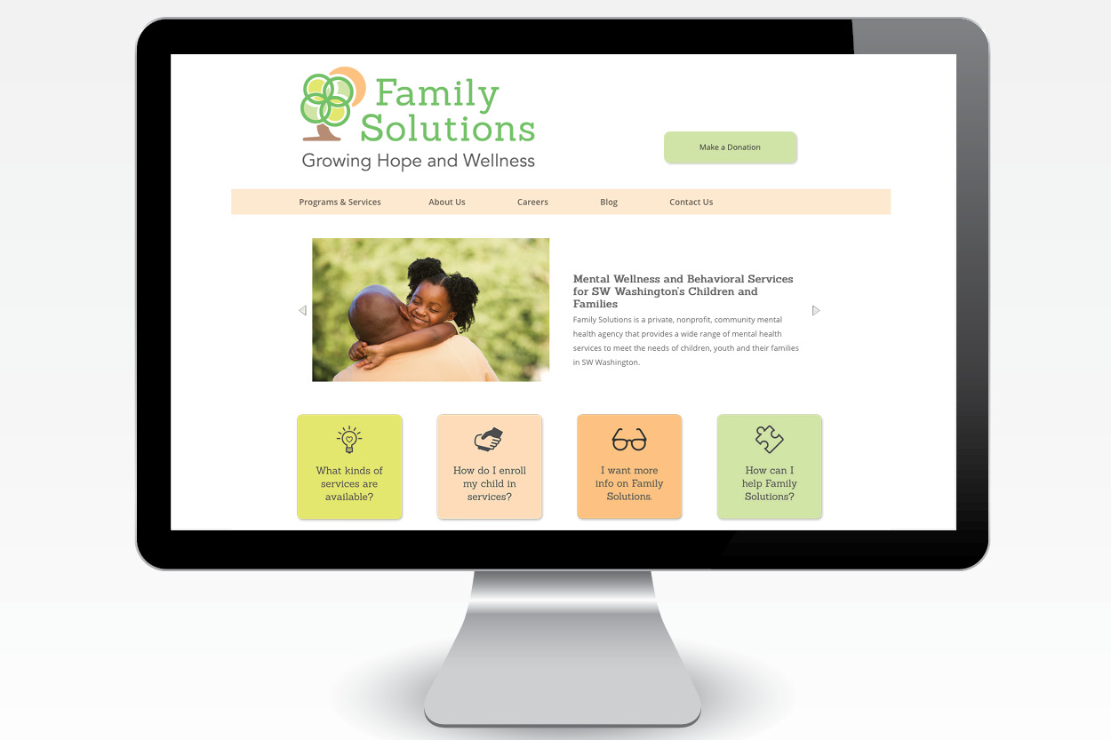 Family Solutions Website: Homepage