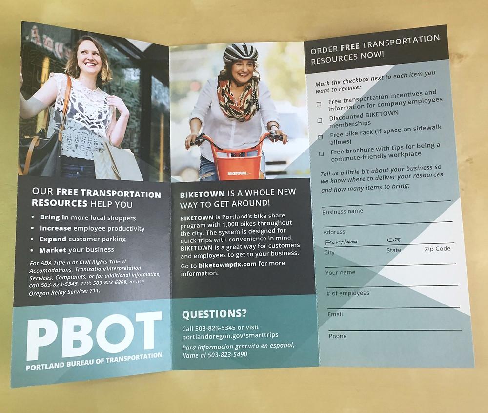 Portland Bureau of Transportation Alternative Commute Initiative Brochure