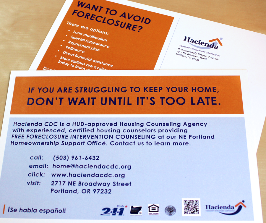 Foreclosure Intervention Postcards