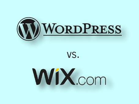 In which we build a website and make a choice - Wix or WordPress?