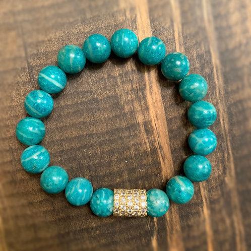 Russian Amazonite Pave Bracelet