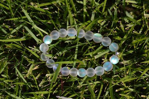 Clear Moon Bead Bracelet