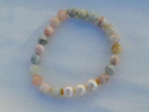 Freshwater Pearls with Morganite Bracelet