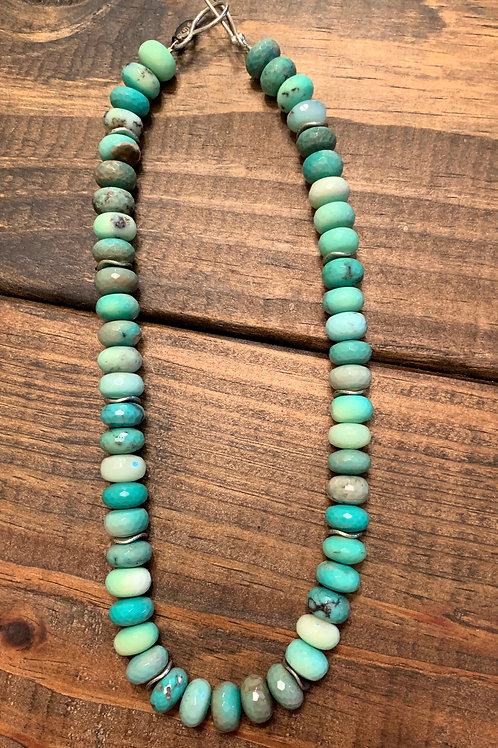 Chrysoprase with Silver Accent Necklace