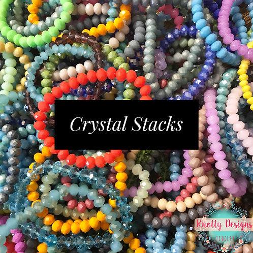 Crystal Stack Bracelets