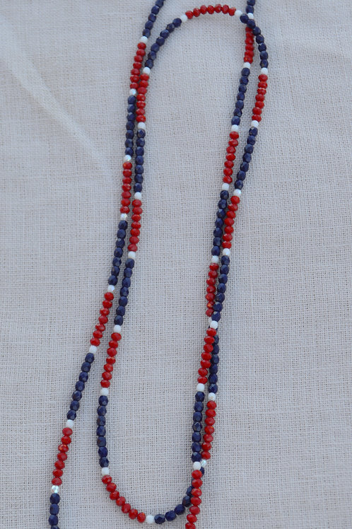 Navy and Red Crystal Multi-Way Wrap