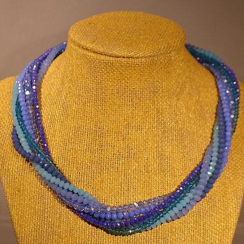 Crystal Multi-Strand Necklace