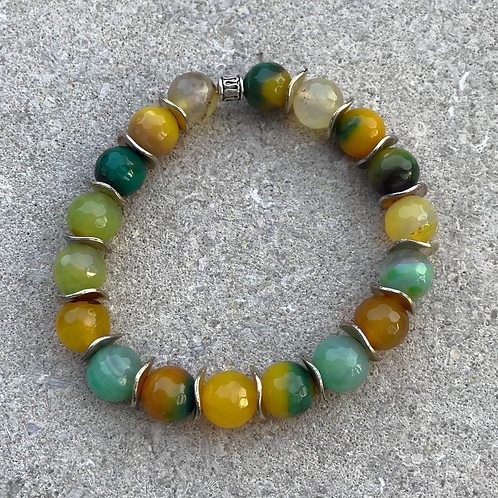 Yellow/Green Agate Bracelet