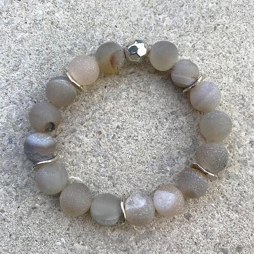Grey Druzy Bracelet