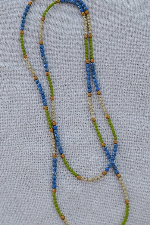 Blue, Lime, and Tan Crystal Multi-Way