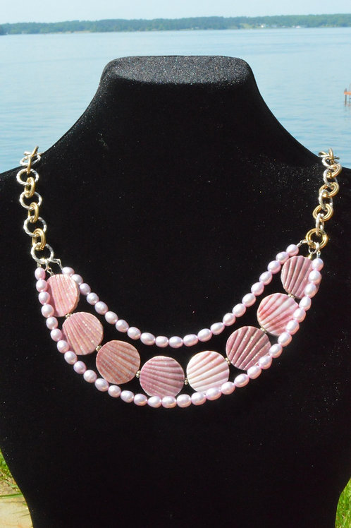 Pink Pearls with Shell