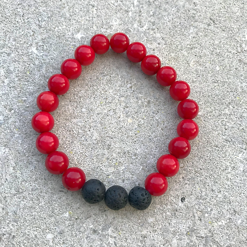 Red Carnelian Diffuser Bracelet